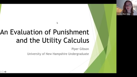 """Thumbnail for entry """"An Evaluation of Punishment and the Utility Calculus"""""""