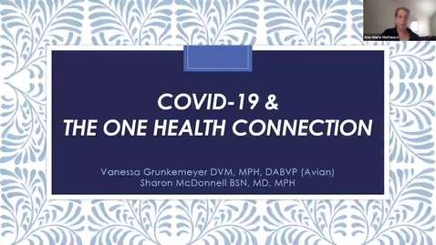 Thumbnail for entry A Question and Answer Session on COVID-19 and the One Health Connection_edited