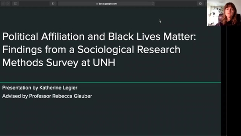 Thumbnail for entry The Relationship Between Political Affiliation and Support for Black Lives Matter at UNH