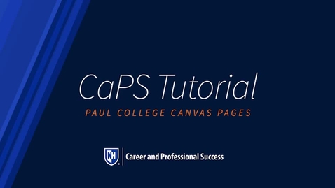 Thumbnail for entry CaPS Tutorial: Paul College Canvas Page Tour