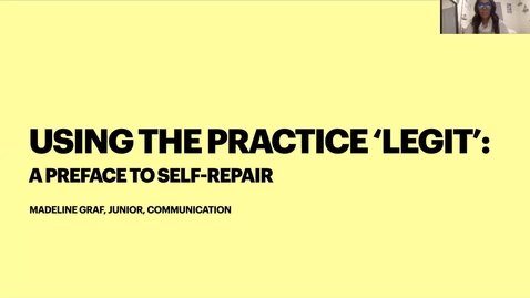Thumbnail for entry Using the Practice 'Legit': A Preface to Self-Repair