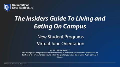 Thumbnail for entry **An Insider's Guide to Living and Eating on Campus