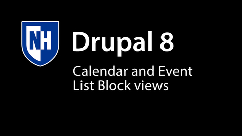 Thumbnail for entry Campus Rec Calendar and Event List Blocks