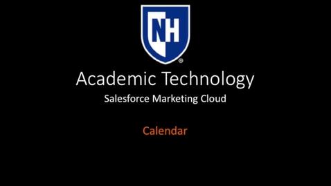 Thumbnail for entry SFMC - Calendar