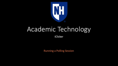 Thumbnail for entry iClicker - Running a Polling Session