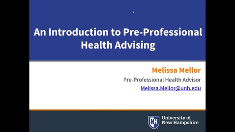 Thumbnail for entry Introduction to Pre-Professional Health Advising