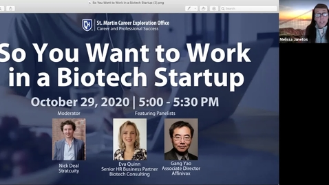Thumbnail for entry So You Want to Work in a Biotech Startup