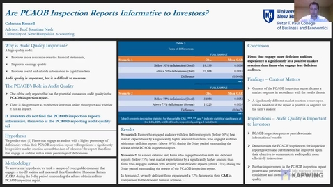 Thumbnail for entry Are PCAOB Inspection Reports Informative to Investors?