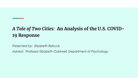 Thumbnail for entry A Tale of Two Cities: An Analysis of the US COVID-19 Response