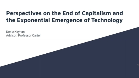 Thumbnail for entry Perspectives on the End of Capitalism in the Age of Artificial Intelligence