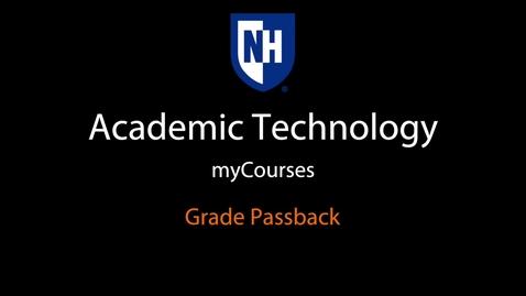 Thumbnail for entry myCourses - Grade Passback