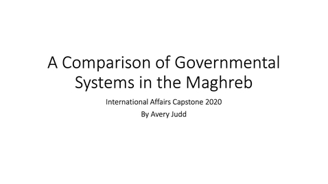 Thumbnail for entry A Comparison of Governmental Systems of the Maghreb