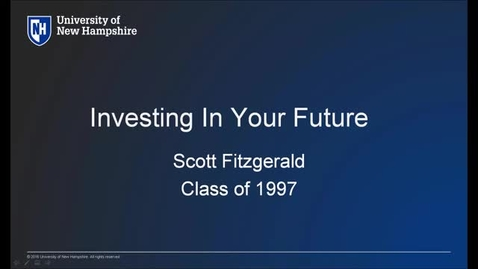 Thumbnail for entry UNH Live Professional Development Webinar: Investing in Your Future