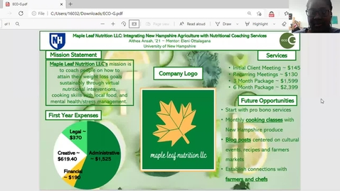 Thumbnail for entry ECO.G-Maple-Leaf-Nutrition-LLC-Integrating-New-Hampshire-Agriculture-with-Nutritional-Coaching-Services