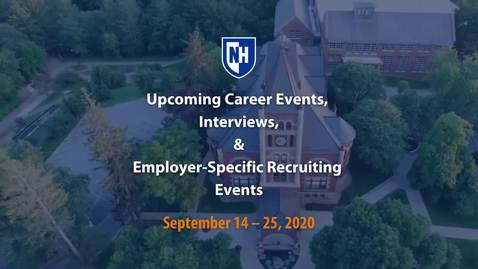 Thumbnail for entry UNH Virtual Recruiting & Events, Sept. 14-25, 2020