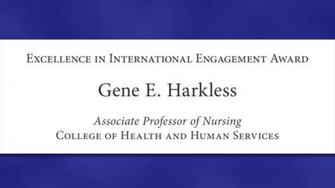 Thumbnail for entry Gene E. Harkless Faculty Excellence 2012