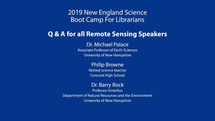 Thumbnail for channel 2019 New England Science Boot Camp-UNH