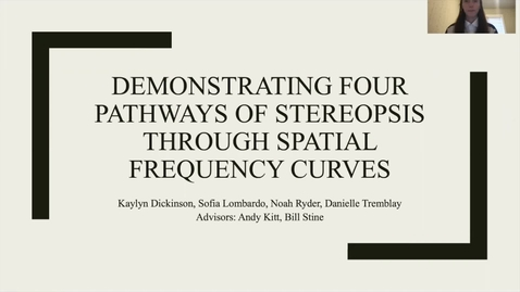 Thumbnail for entry Demonstrating Four Pathways of Stereopsis through Spatial Frequency Curves