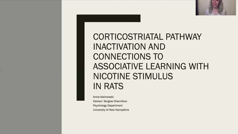 Thumbnail for entry Corticostriatal Pathway Inactivation and Connections to Associative Learning with Nicotine Stimulus In Rats