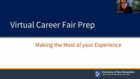 Thumbnail for entry Career & Internship Fair Prep Session, Fall 2020