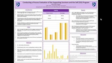 Thumbnail for entry Conducting a Process Evaluation of the Supporting Survivors and the Self (SSS) Program