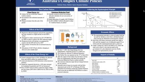 Thumbnail for entry ECON-CLIMATE.Australia's Climate Policies