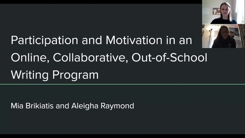Thumbnail for entry Participation and Motivation in an Online, Collaborative, Out-of-School Writing Program