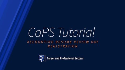 Thumbnail for entry How To: Accounting Resume Review Night Registration