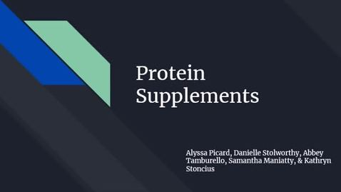 Thumbnail for entry Protein Supplements