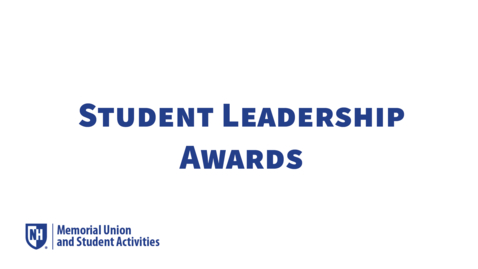 Thumbnail for entry Student Leadership Awards 2020