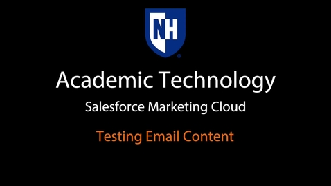 Thumbnail for entry SFMC - Testing email content