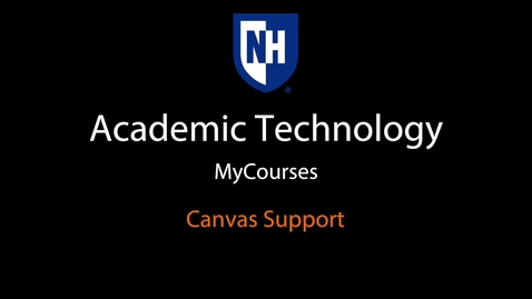 Thumbnail for entry myCourses - Canvas Support.mov