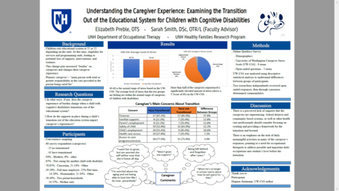 Thumbnail for entry Understanding the Caregiver Experience: Examining the Transition Out of the Educational System for Children with Cognitive Disabilities