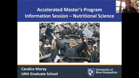 Thumbnail for entry Info Sessions | Accelerated MS in Nutrition @ UNH