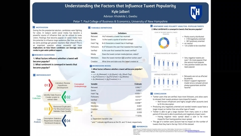 Thumbnail for entry Understanding the Factors that Influence Tweet Popularity