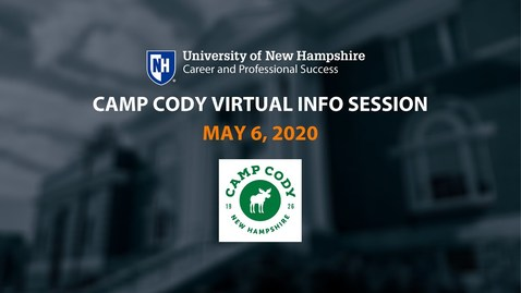 Thumbnail for entry Camp Cody Virtual Information Session - May 6, 2020