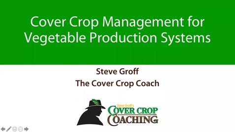 Thumbnail for entry NHVBGA - 14 Mar 2020 - Steve Groff, Cover Crops