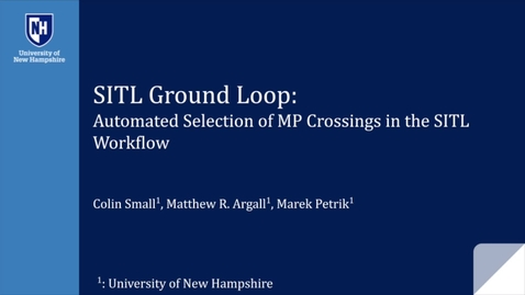 Thumbnail for entry SITL Ground Loop: Automated Selection of MP Crossings in the SITL Workflow