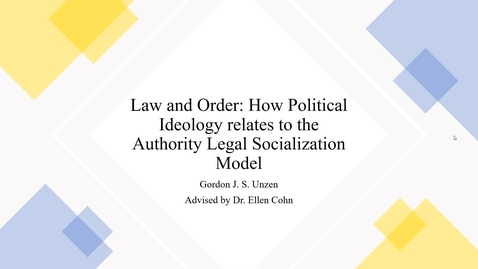 Thumbnail for entry Law and Order: How Political Ideology relates to the Authority Legal Socialization Model