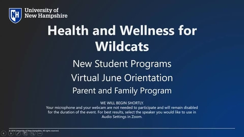 Thumbnail for entry *Health and Wellness for Wildcats - Parent and Family Program