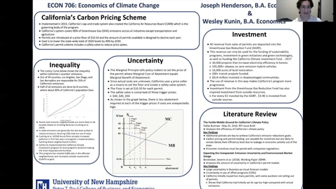 Thumbnail for entry ECON-CLIMATE: Two-Economists'-Perspective-On-California's-Carbon-Pricing-Scheme