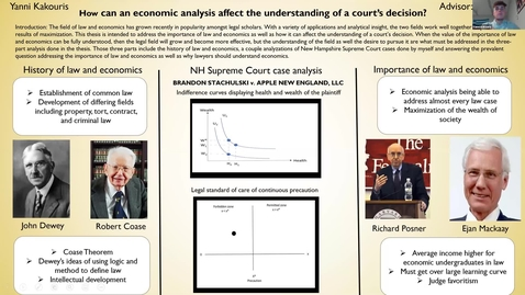 Thumbnail for entry HONORS.How can an economic analysis affect the understanding of a court's decision