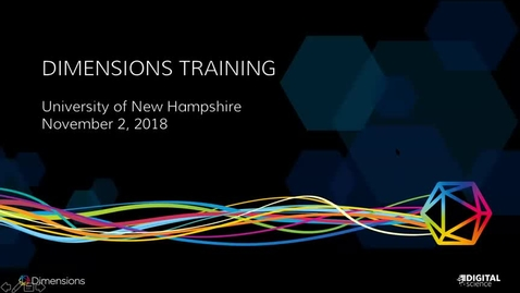 Thumbnail for entry UNH Dimensions Navigation, Features, and Functionality  11.3.18