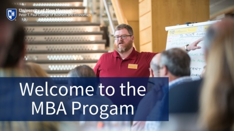 Thumbnail for entry Welcome to the Online and Part-Time MBA Program