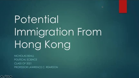 Thumbnail for entry Potential Immigration From Hong Kong