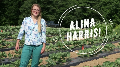 Thumbnail for entry Alina Harris, UNH Agricultural Sciences Grad Student