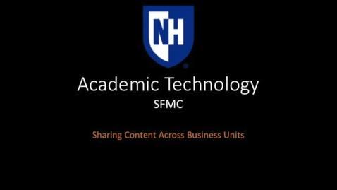 SFMC Sharing Content Edited