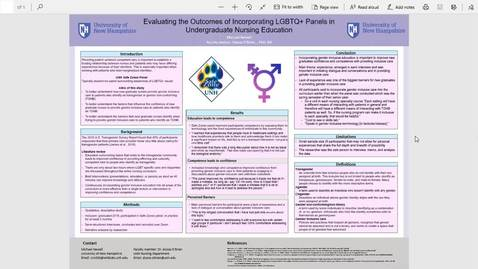 Thumbnail for entry Evaluating the Outcomes of Incorporating LGBTQ+ Panels in Undergraduate Nursing Education