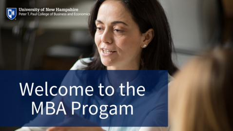 Thumbnail for entry Welcome to the MBA Program