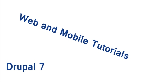 Thumbnail for entry Drupal 7 Training: File Browser